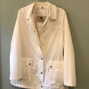 Authentic Burberry lightweight white jacket size10